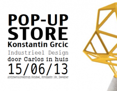 Uitnodiging: Pop-up Store Grcic door carlos in huis Deventer